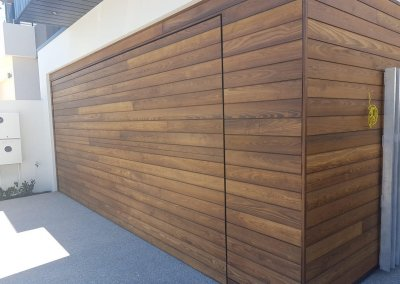 timber clad flush mount garage door1