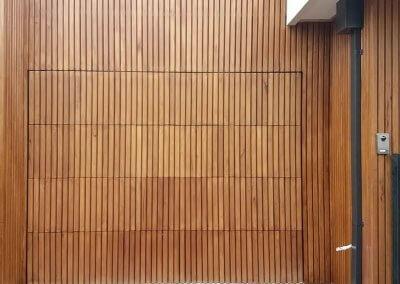 vertical clad flush mount garage door