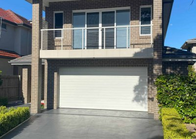 Modern Slimline Sectional Garage Door