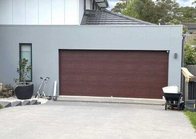 Timber Look Sectional Garage Door